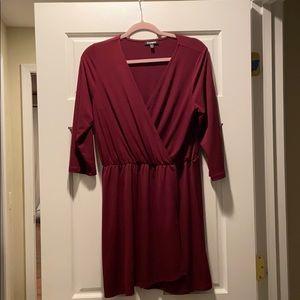 Express faux wrap dress